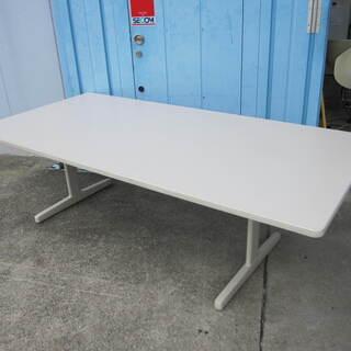 会議テーブル T字脚 W2100 ニューグレー色