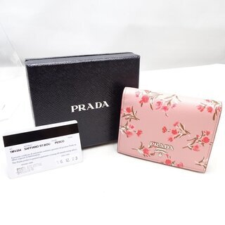 プラダ PRADA 二つ折り財布 SAFFIANO +ST.FL...