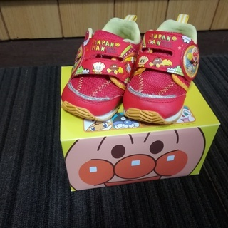 【1500円】美品 元箱有 数回使用 アンパンマン 靴 13㎝ 送料込