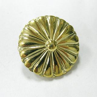 金色の菊紋 真鍮製 コンチョ ボタン 小 * 菊 ご紋 御紋 横...