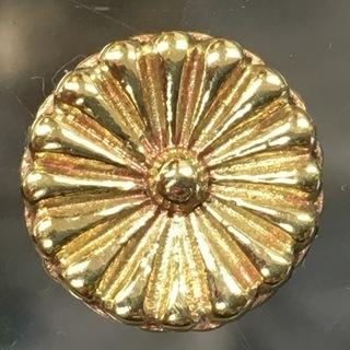 金色の菊紋 真鍮製 パーツ 12㎜ チャーム ボタン 菊 ご紋 ...