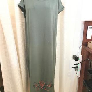 TITICACA 半袖花柄ロングワンピース#Cattleya 109