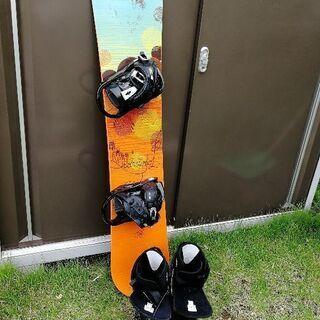 スノボ板、ビンディング、ブーツ3点セット