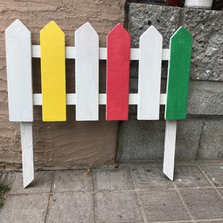 カラフル/ガーデンフェンス/ガーデンピック/白ベース