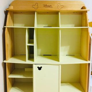 【お値下げ☆】DWE ディズニー英語システム 白木 棚 本棚