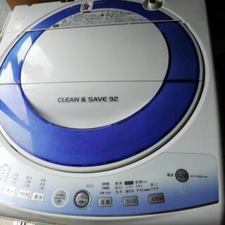 無料  2012年製  シャープ7キロ洗濯機