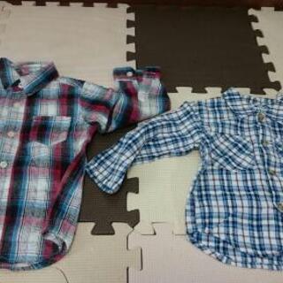 2枚 シャツ 90~95