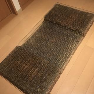 アジア家具ガラスローテーブル