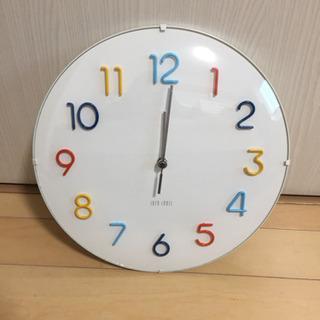 IDEA Label 壁掛け 電波時計 ラウンドウォールクロック