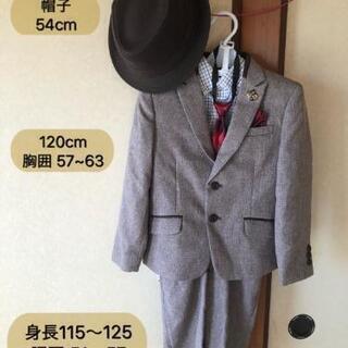 七五三男児120カッコ良いスーツセット☆ハット&ブーツ付き☆
