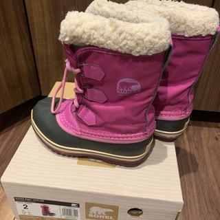 ソレル 冬靴 ピンク