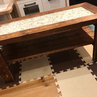 ハンドメイド ローテーブル