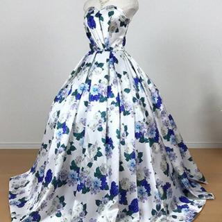 花柄カラードレス