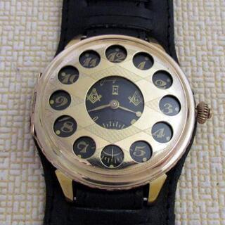1920年代!フリーメイソン 懐中時計 カスタム腕時計 ユンハン...