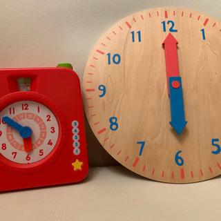 声が出るしまじろうの時計の勉強+木の時計おもちゃセット