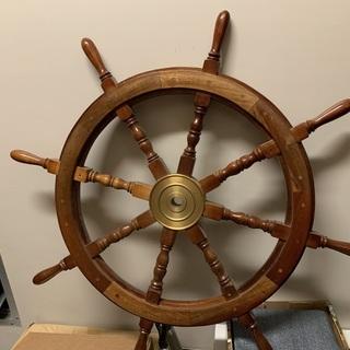 マリンインテリア舵輪36インチ(木製船ハンドル)