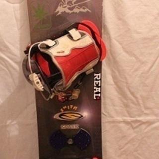 値下げ スノーボード 中古 ビンディング、収納袋付き