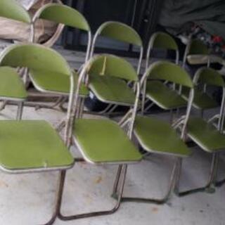 中古 折り畳み式椅子10個セット