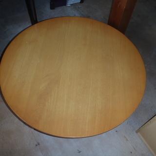 レトロ和風丸テーブル(中古・普通品)