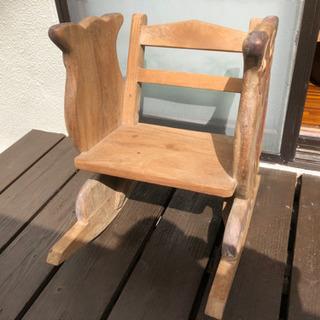 ゾウさんとフクロウの子供用のロッキングチェアー 椅子