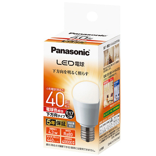 激安 ジャンク品 (新品)LED 4.3w(小形電球40形相当)