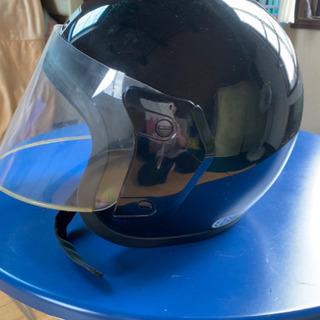 半ヘルバイザー付きヘルメット