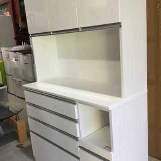 NITORI キッチンボード 食器棚 120TF-H-WH エナ...