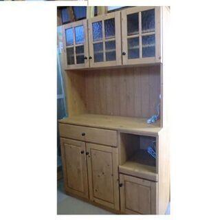 食器棚 天然木 美品