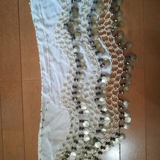 ベリーダンス ヒップスカーフ ホワイト