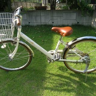 【中古】子供用自転車 22インチ ホワイト サカモトテクノ製