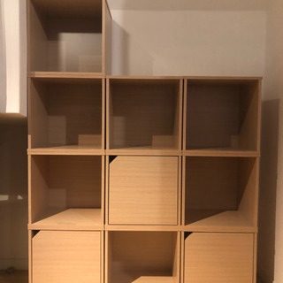 木製の正方形シェルフ(計20個)