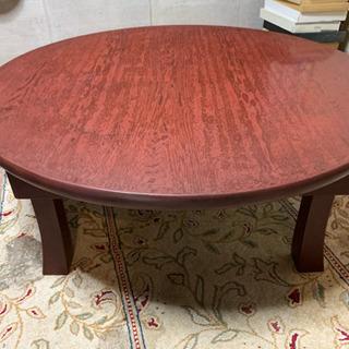 漆塗り テーブル 丸型