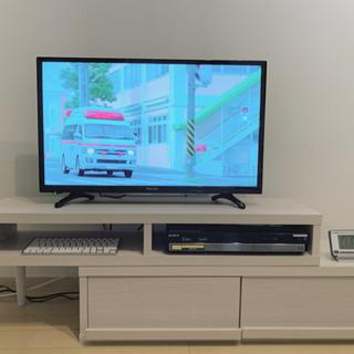 32型薄型液晶テレビ&Blu-rayレコーダー&スリム幅テレビボード