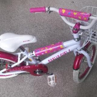 自転車 16インチ キッズ 女の子 美品