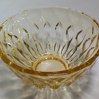 ガラス 小鉢 イエロー 3個 中古