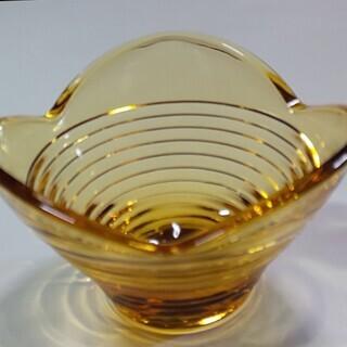小鉢 ガラス 小ぶり 黄色 12個 中古
