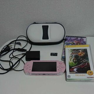 PSP3000 ピンクブロッサム ソフト付き