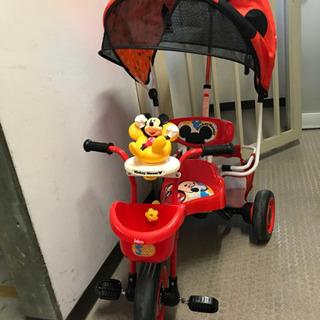 ミッキーマウスのシェード付き三輪車(元箱あります!)