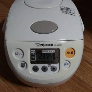 炊飯器 NS-UC05-WB