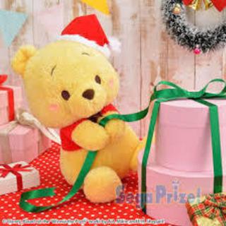 【新品】くまのプーさん クリスマスぬいぐるみ