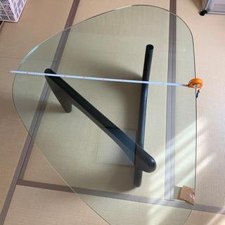 【傷あり】ガラステーブル(天板30kg)