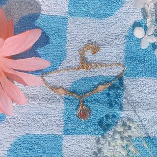 貝殻ブレスレット(ピンク)