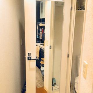 【お取引中】ドア掛け全身鏡   ★1年しか使用していないのでとても綺麗