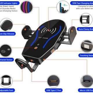 Centom無線自動車充電器、自動センシングクランプ、10 X/...