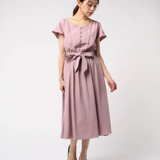 【mew's refined clothes】前フレアワンピース...
