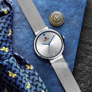 メンズ 腕時計 防水 超薄型 ミランメッシュバンド カジュアル