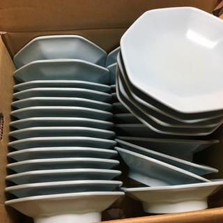 プラスチック皿(水色) 旅館でメイン料理乗せていました