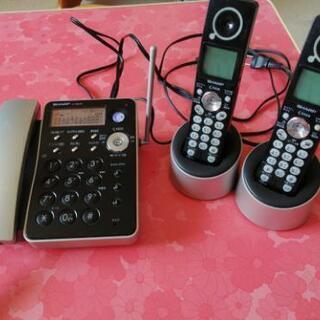 シャープ電話機 子機2台付き
