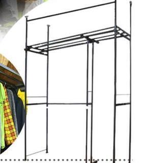 壁面ラック、押入れ収納、クローゼット伸縮タイプ