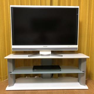 42型テレビ&BDディスクプレイヤー&テレビ台セット